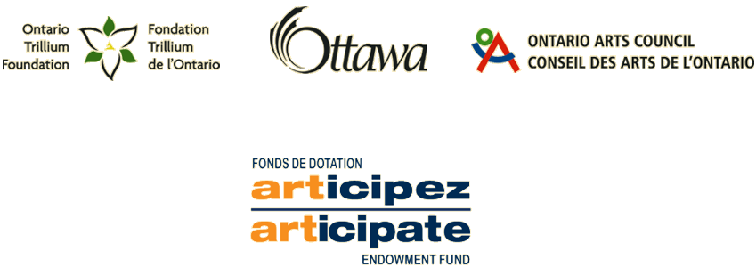 Trilliium Ottawa and Ontario Arts Council logos